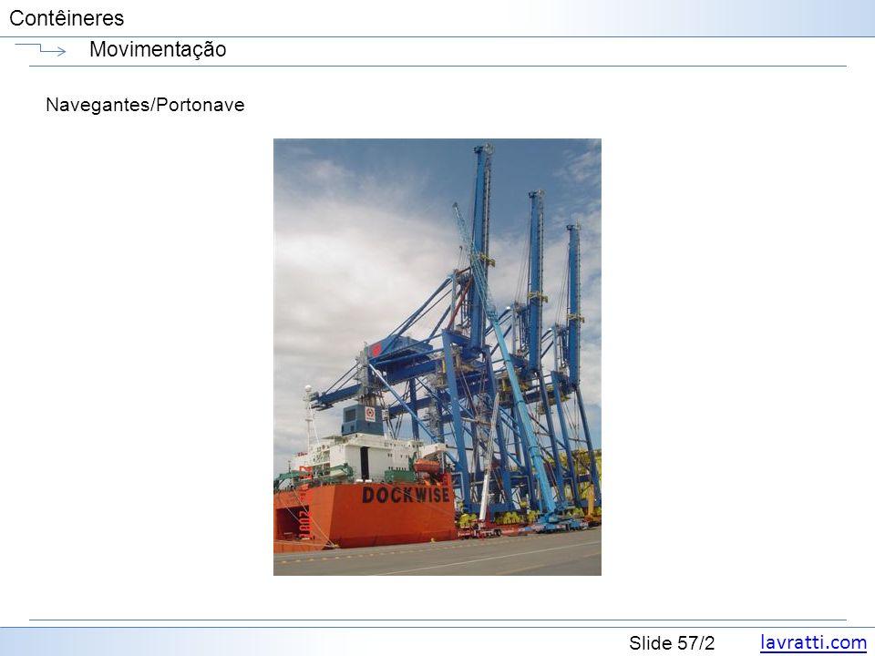 lavratti.com Slide 57/2 Contêineres Movimentação Navegantes/Portonave