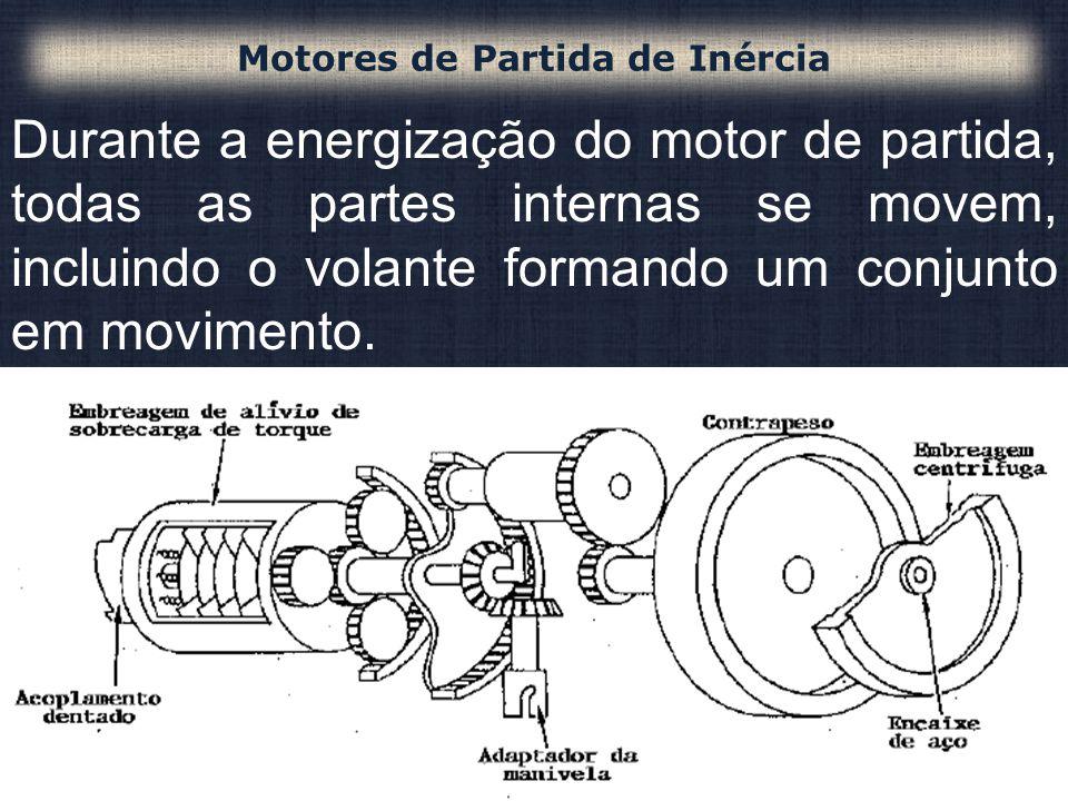 Durante a energização do motor de partida, todas as partes internas se movem, incluindo o volante formando um conjunto em movimento. Motores de Partid