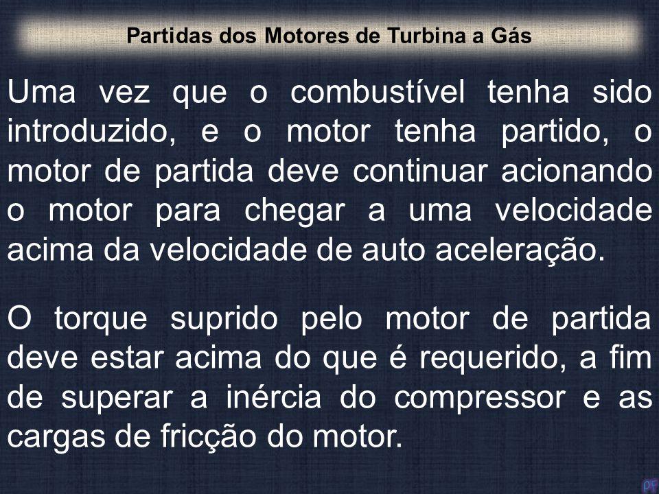 Uma vez que o combustível tenha sido introduzido, e o motor tenha partido, o motor de partida deve continuar acionando o motor para chegar a uma veloc