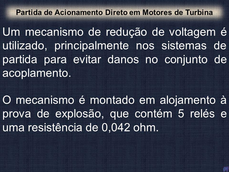 Um mecanismo de redução de voltagem é utilizado, principalmente nos sistemas de partida para evitar danos no conjunto de acoplamento. Partida de Acion