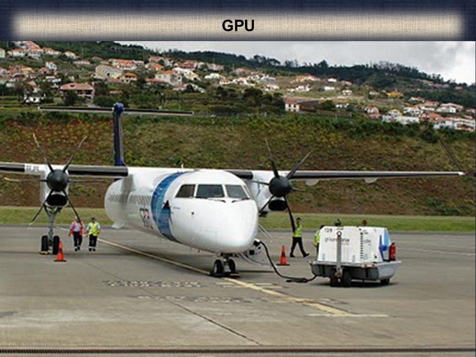 Ground power unit ou GPU, é um equipamento móvel terrestre que serve para fornecer energia aos aviões quando estes se encontram estacionados no aeropo