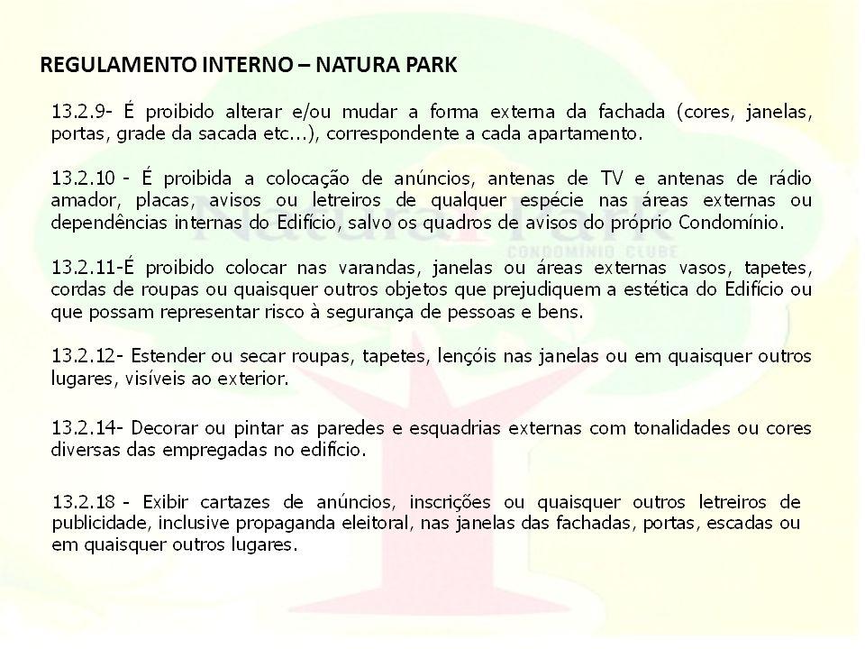 REGULAMENTO INTERNO – NATURA PARK