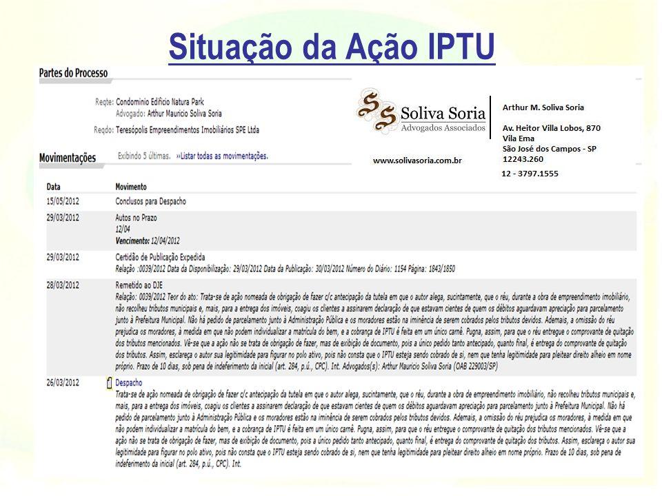 Situação da Ação IPTU