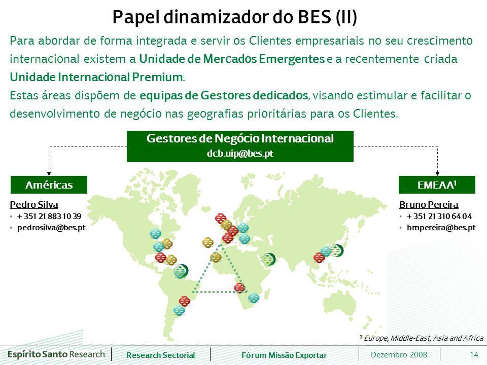 Research SectorialFórum Missão Exportar 14Dezembro 2008 Para abordar de forma integrada e servir os Clientes empresariais no seu crescimento internaci