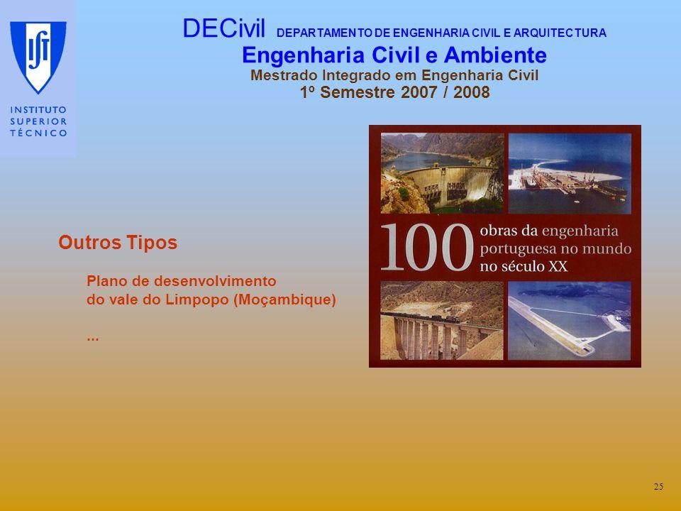 Outros Tipos Plano de desenvolvimento do vale do Limpopo (Moçambique)... 25 DECivil DEPARTAMENTO DE ENGENHARIA CIVIL E ARQUITECTURA Engenharia Civil e