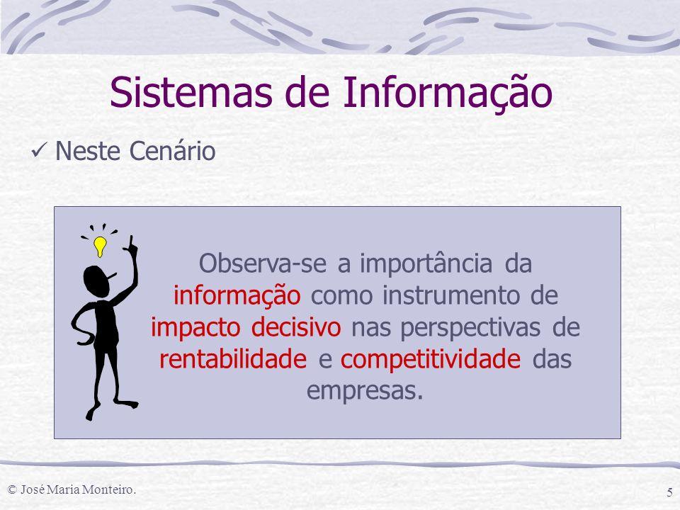 © José Maria Monteiro. 16 Sistemas de Informação Conexão Homem-Máquina