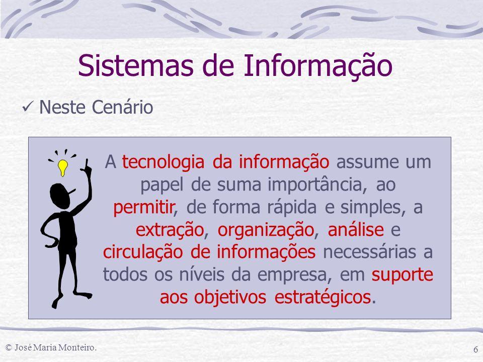 © José Maria Monteiro. 37 Sistemas de Informação