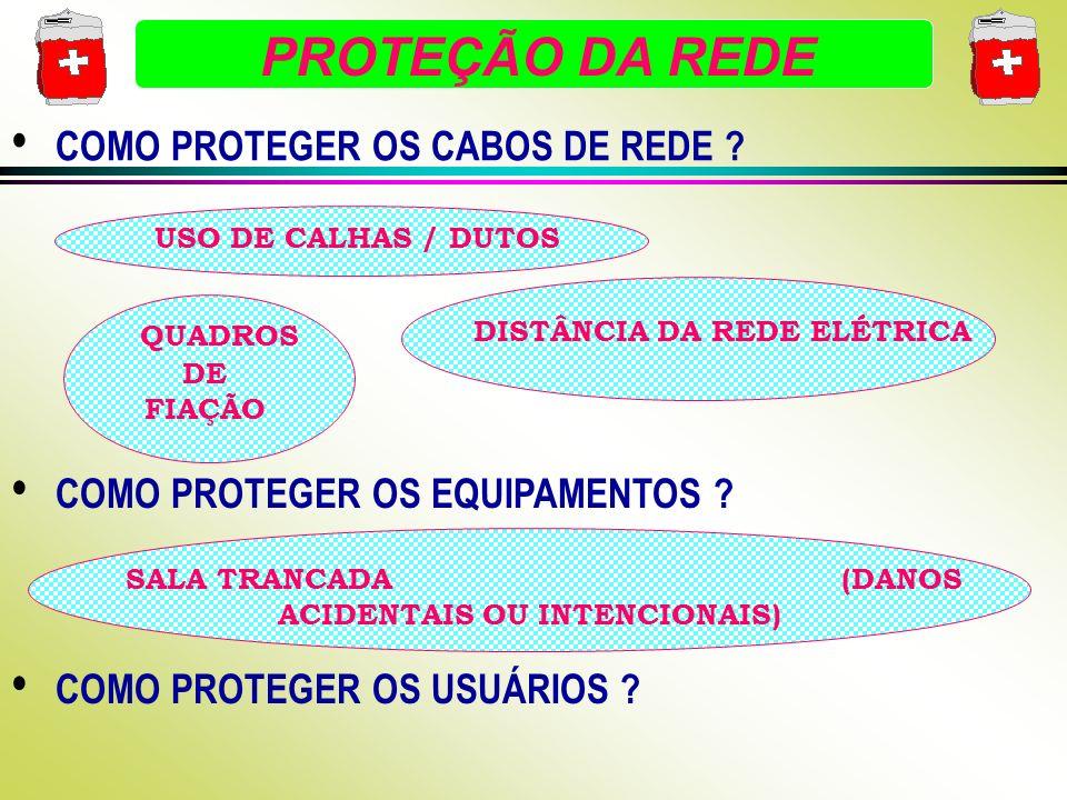 PROTEÇÃO DA REDE COMO PROTEGER OS CABOS DE REDE .
