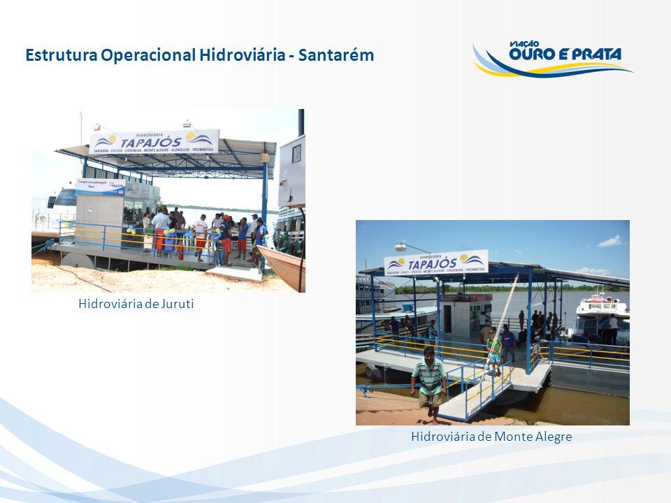 Estrutura Operacional Hidroviária - Santarém Hidroviária de Monte Alegre Hidroviária de Juruti