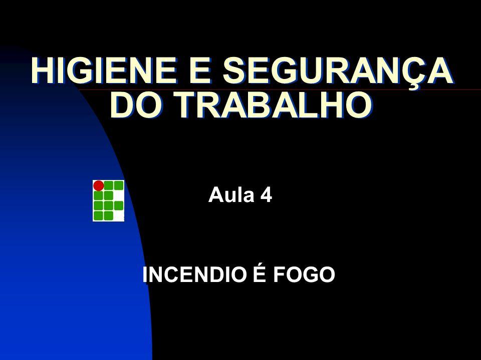 HIGIENE E SEGURANÇA DO TRABALHO Aula 4 INCENDIO É FOGO