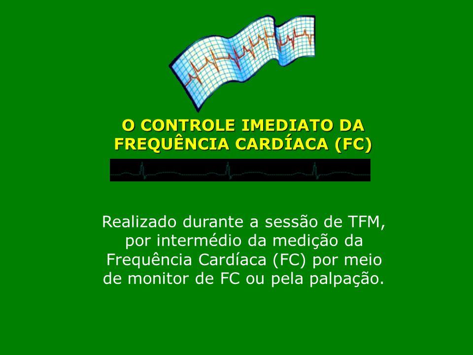 Realizado durante a sessão de TFM, por intermédio da medição da Frequência Cardíaca (FC) por meio de monitor de FC ou pela palpação. O CONTROLE IMEDIA