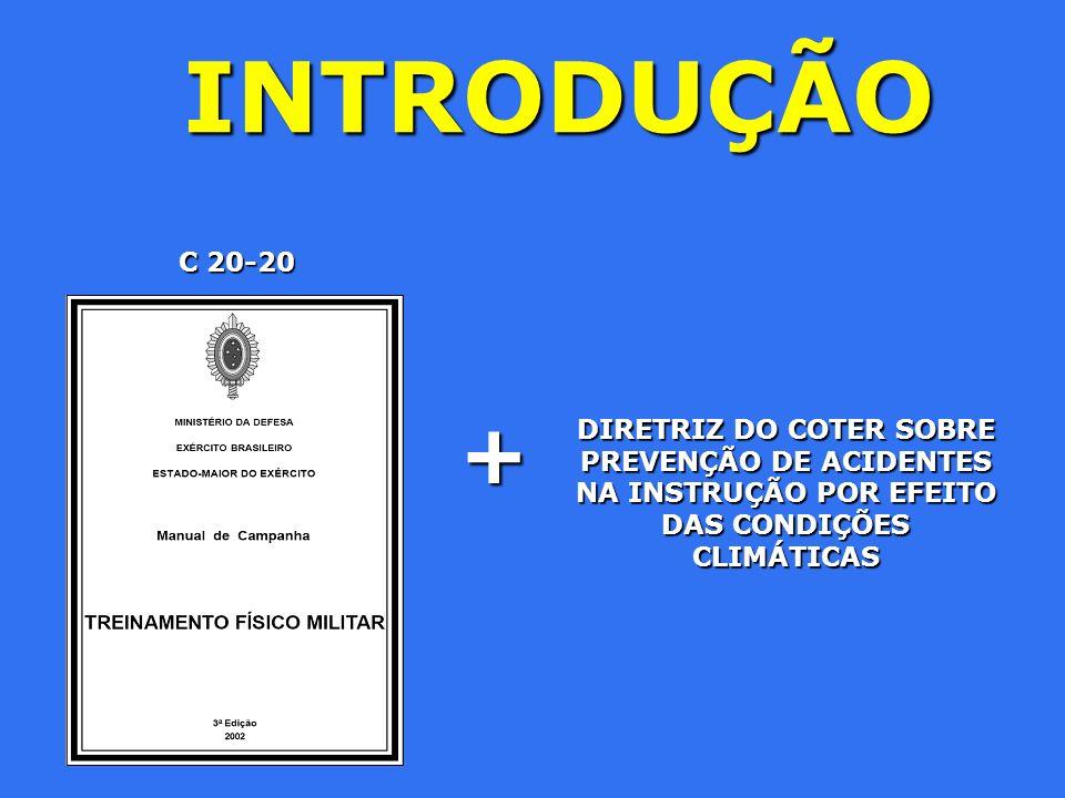 INTRODUÇÃO DIRETRIZ DO COTER SOBRE PREVENÇÃO DE ACIDENTES NA INSTRUÇÃO POR EFEITO DAS CONDIÇÕES CLIMÁTICAS + C 20-20