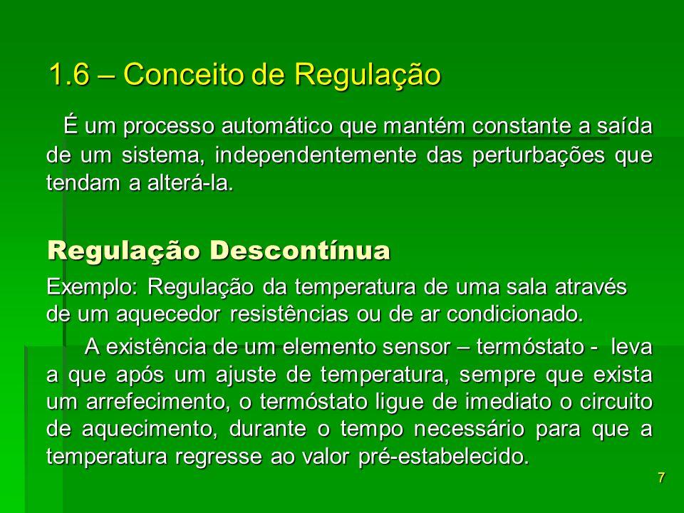 Regulação Contínua Regulação Contínua Exemplo: O som que chega a um rádio.