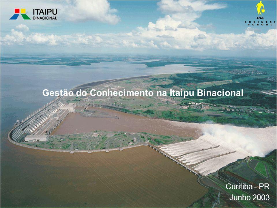 Curitiba - PR Junho 2003 Gestão do Conhecimento na Itaipu Binacional