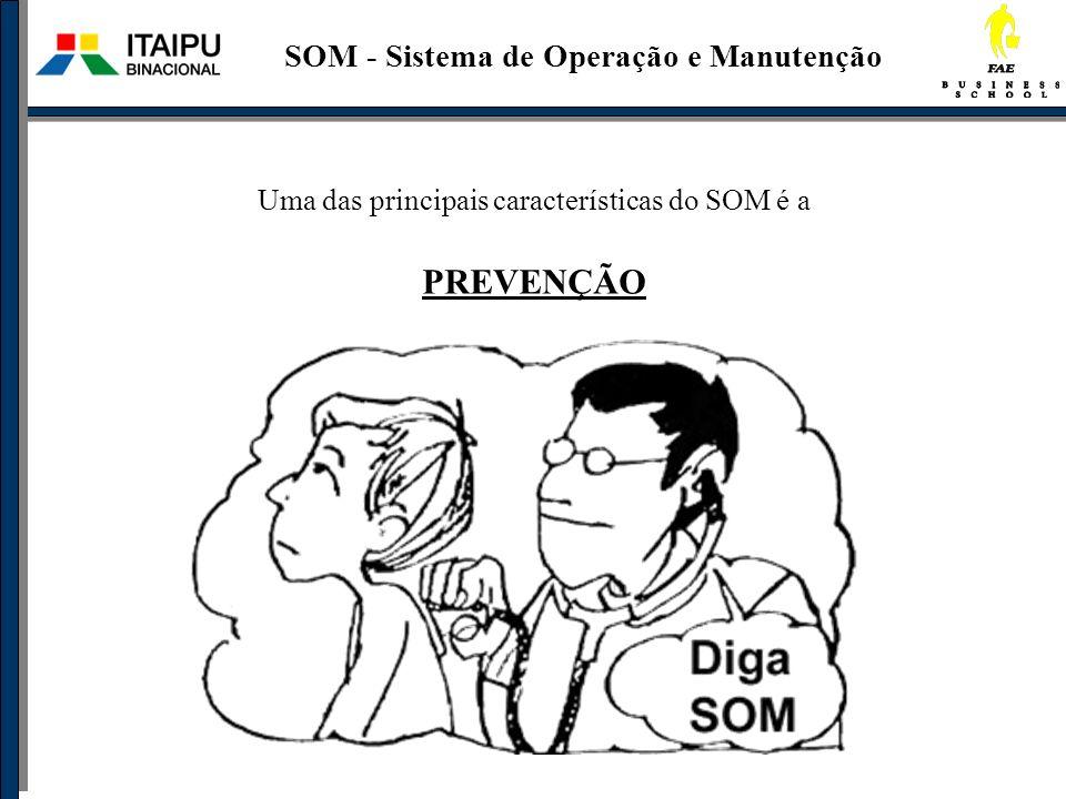Uma das principais características do SOM é a PREVENÇÃO SOM - Sistema de Operação e Manutenção