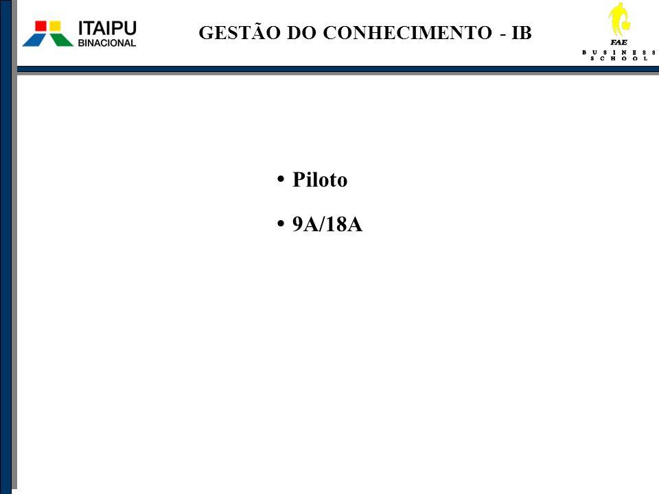 GESTÃO DO CONHECIMENTO - IB Piloto 9A/18A