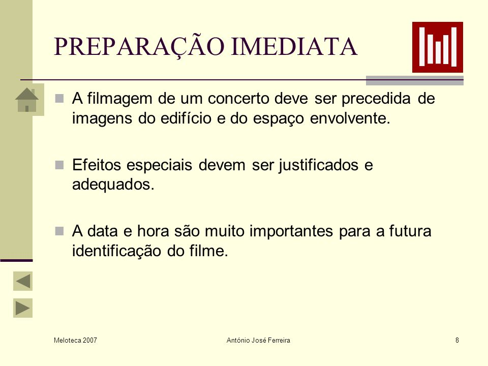 Meloteca 2007 António José Ferreira19 PLANOS Plano Muito Geral (PMG) Plano Geral (PG) Plano Geral Médio (PGM), ou plano italiano, corpo inteiro.
