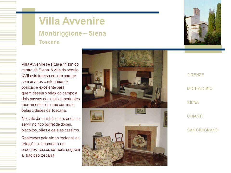 Villa Avvenire Montiriggione – Siena Toscana FIRENZE MONTALCINO SIENA CHIANTI SAN GIMIGNANO Villa Avvenire se situa a 11 km do centro de Siena.