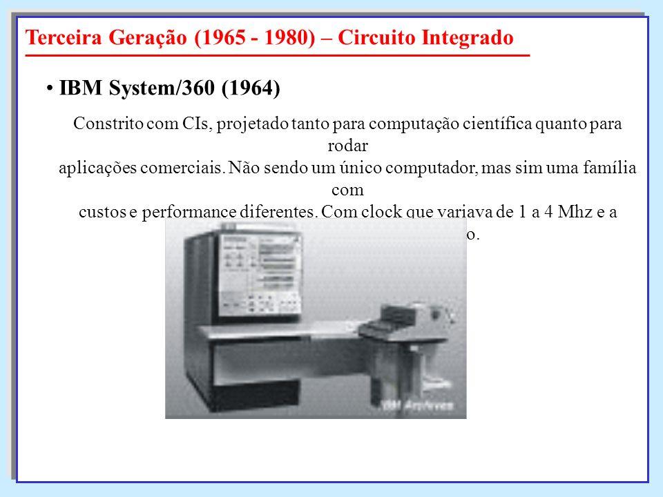 Constrito com CIs, projetado tanto para computação científica quanto para rodar aplicações comerciais. Não sendo um único computador, mas sim uma famí