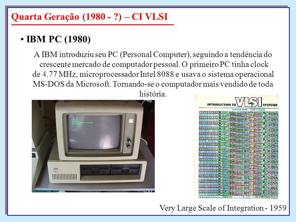 A IBM introduziu seu PC (Personal Computer), seguindo a tendência do crescente mercado de computador pessoal. O primeiro PC tinha clock crescente merc