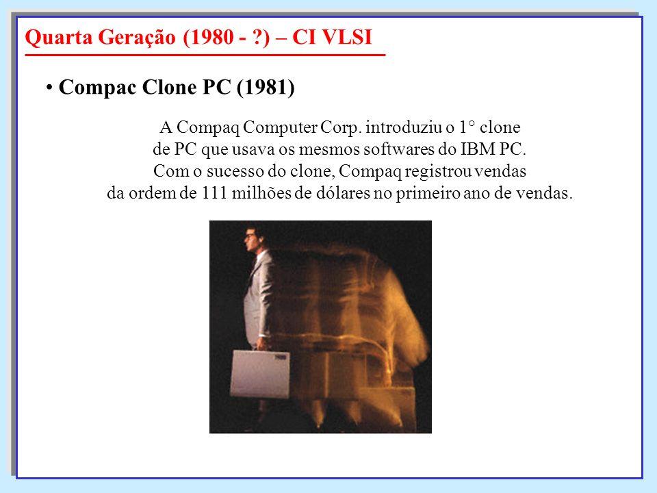A Compaq Computer Corp. introduziu o 1° clone de PC que usava os mesmos softwares do IBM PC. Com o sucesso do clone, Compaq registrou vendas da ordem