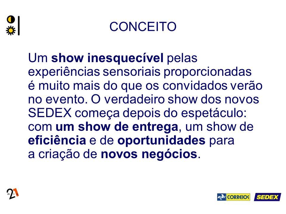 CONCEITO Um show inesquecível pelas experiências sensoriais proporcionadas é muito mais do que os convidados verão no evento.