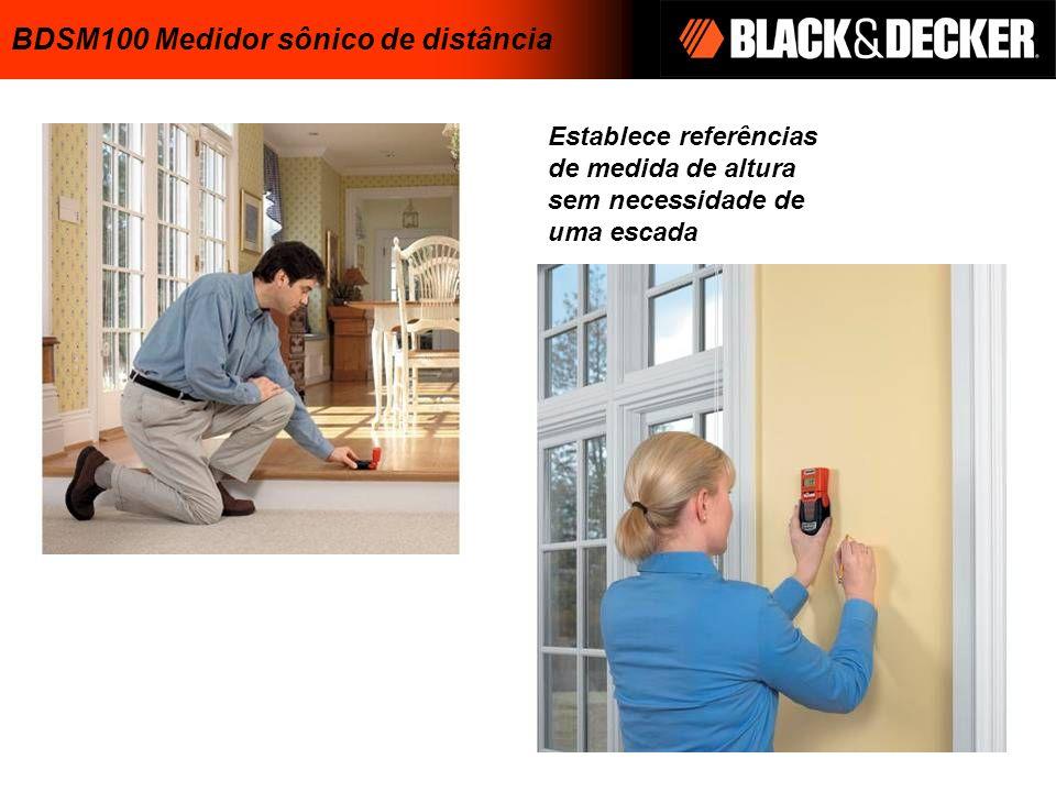 Establece referências de medida de altura sem necessidade de uma escada BDSM100 Medidor sônico de distância