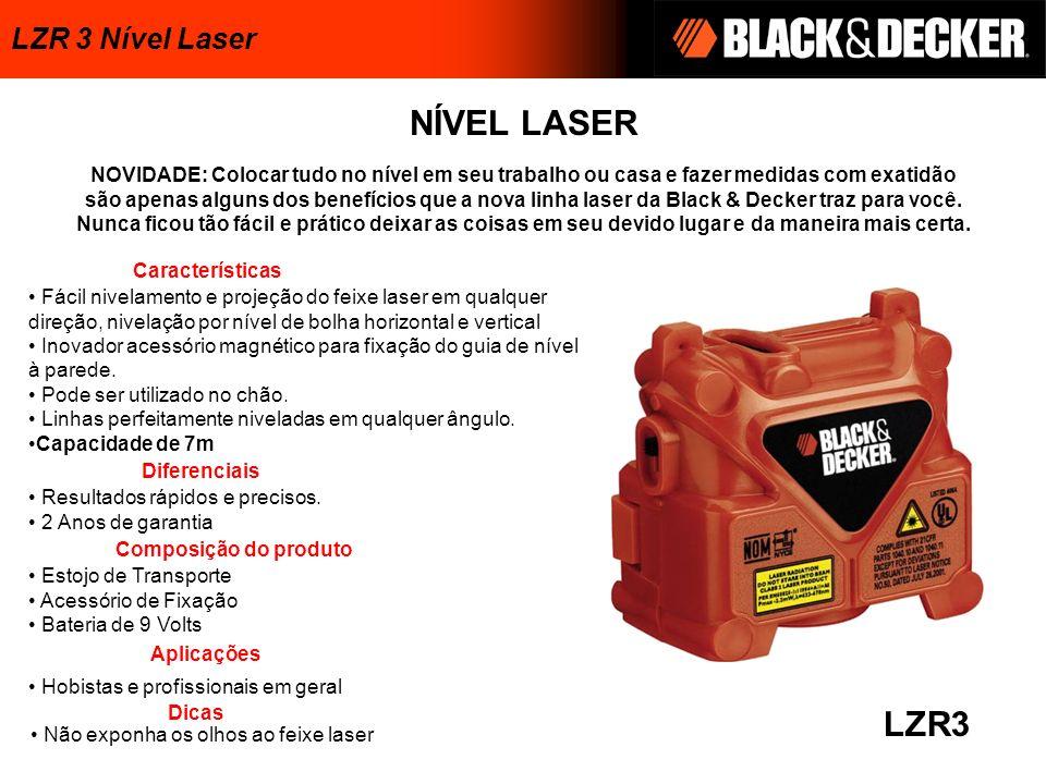 NÍVEL LASER LZR3 Estojo de Transporte Acessório de Fixação Bateria de 9 Volts NOVIDADE: Colocar tudo no nível em seu trabalho ou casa e fazer medidas