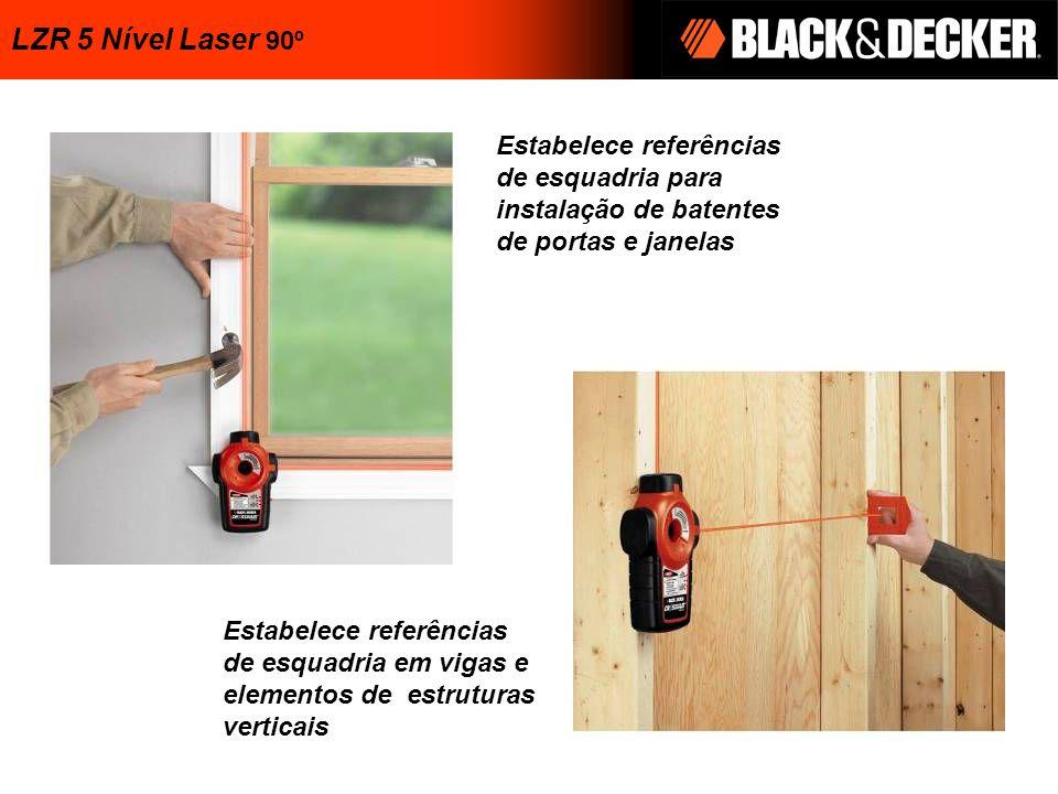 Estabelece referências de esquadria para instalação de batentes de portas e janelas Estabelece referências de esquadria em vigas e elementos de estrut