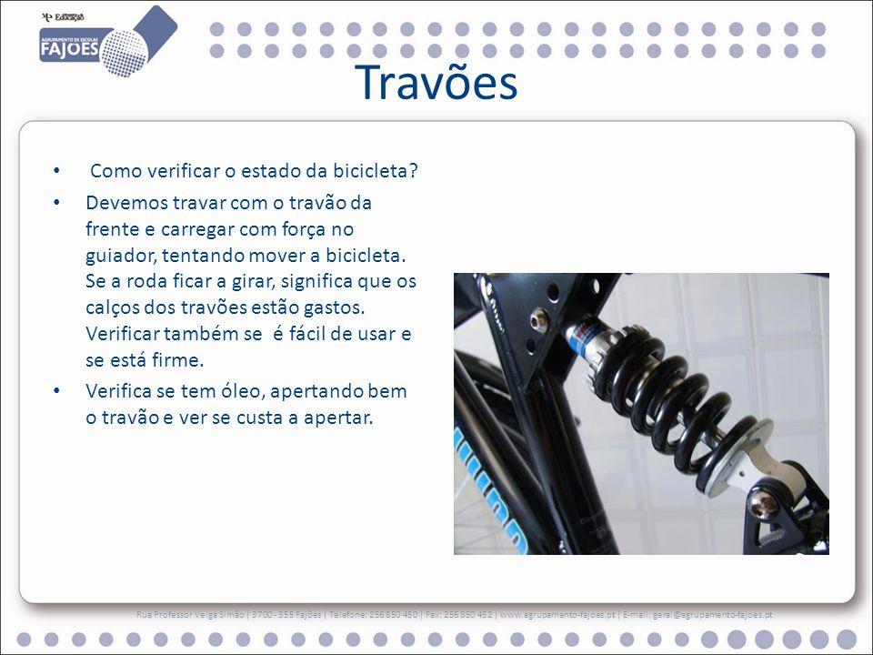 Travões Como verificar o estado da bicicleta.