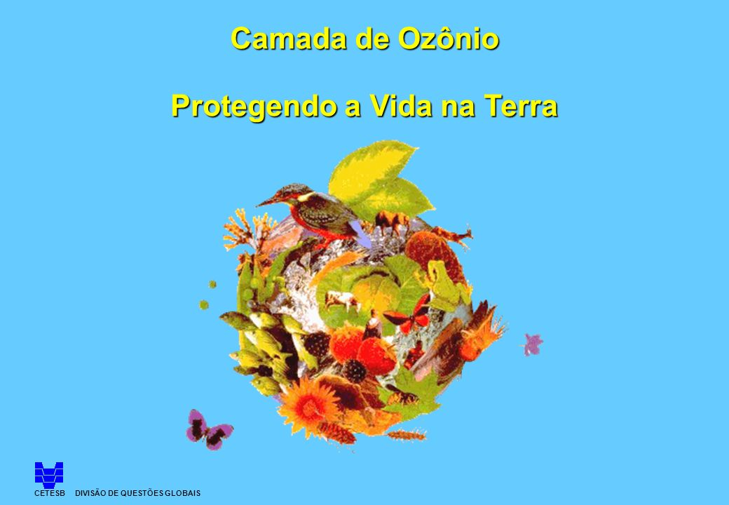 CETESB DIVISÃO DE QUESTÕES GLOBAIS Camada de Ozônio Protegendo a Vida na Terra