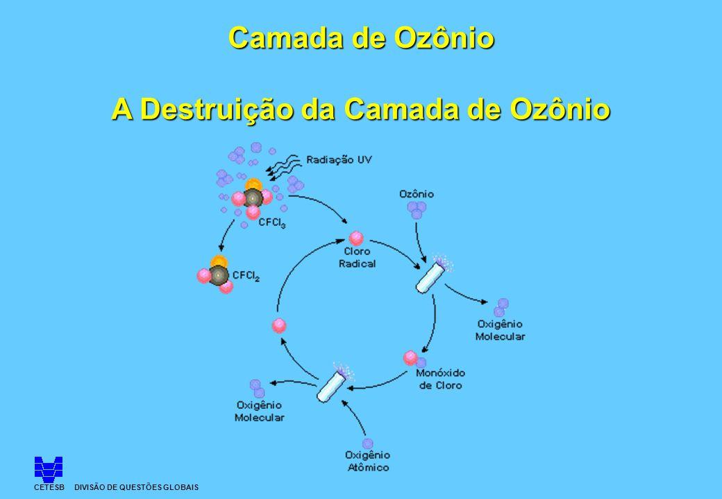 Camada de Ozônio A Destruição da Camada de Ozônio CETESB DIVISÃO DE QUESTÕES GLOBAIS