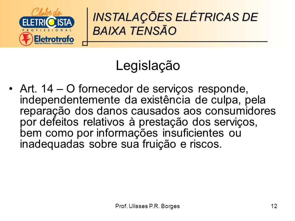Prof.Ulisses P.R. Borges12 Legislação Art.