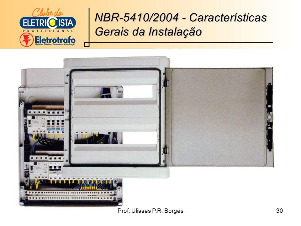 Prof. Ulisses P.R. Borges30 NBR-5410/2004 - Características Gerais da Instalação