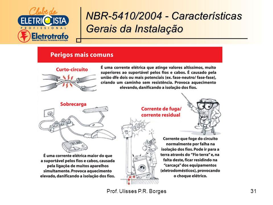 Prof. Ulisses P.R. Borges31 NBR-5410/2004 - Características Gerais da Instalação