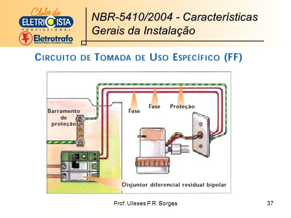 Prof. Ulisses P.R. Borges37 NBR-5410/2004 - Características Gerais da Instalação