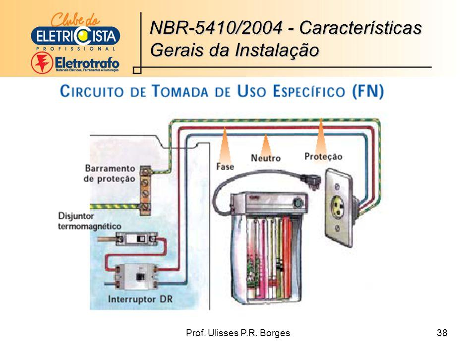 Prof. Ulisses P.R. Borges38 NBR-5410/2004 - Características Gerais da Instalação