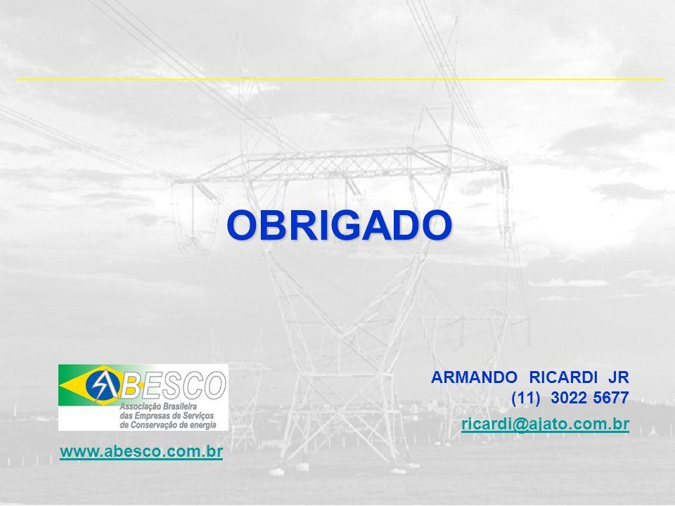 ARMANDO RICARDI JR (11) 3022 5677 ricardi@ajato.com.brOBRIGADO www.abesco.com.br