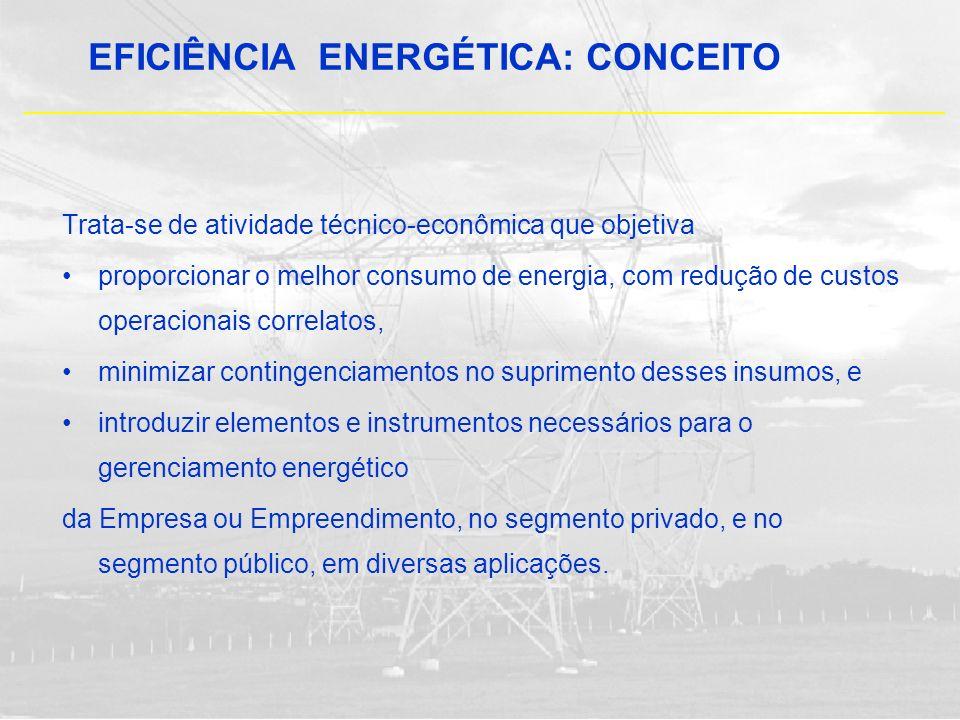 Trata-se de atividade técnico-econômica que objetiva proporcionar o melhor consumo de energia, com redução de custos operacionais correlatos, minimiza