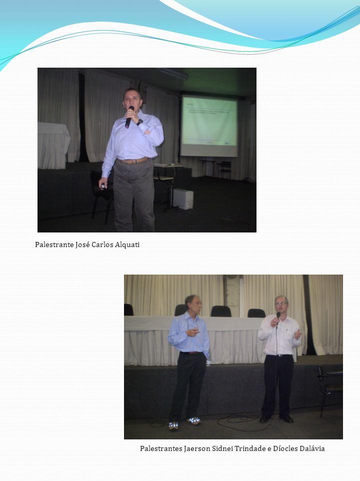 Palestrante José Carlos Alquati Palestrantes Jaerson Sidnei Trindade e Díocles Dalávia