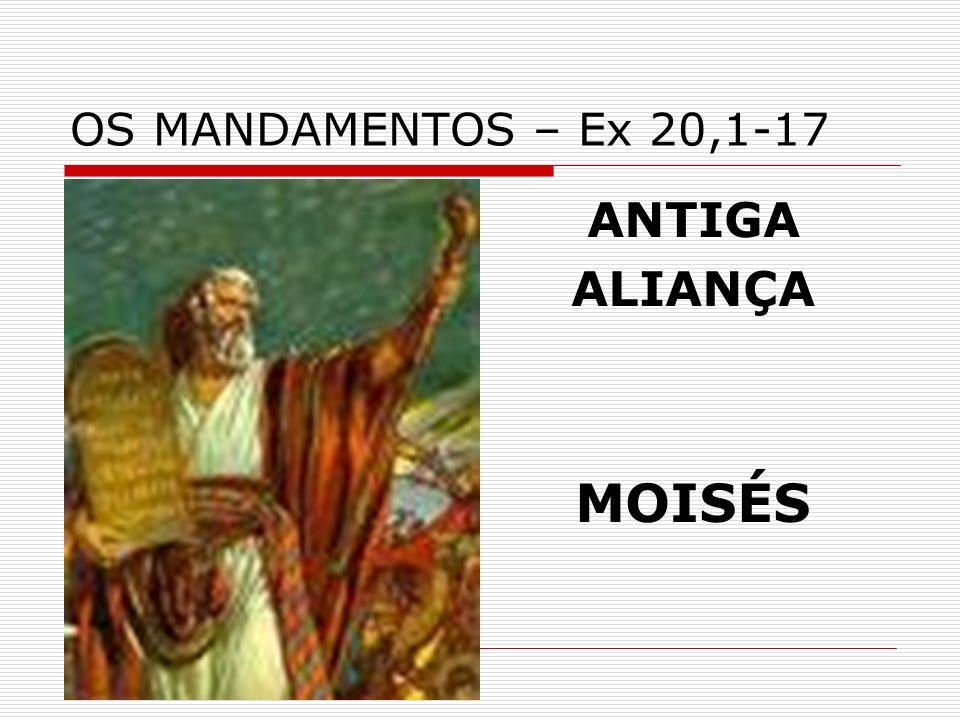 OS MANDAMENTOS – Ex 20,1-17 ANTIGA ALIANÇA MOISÉS