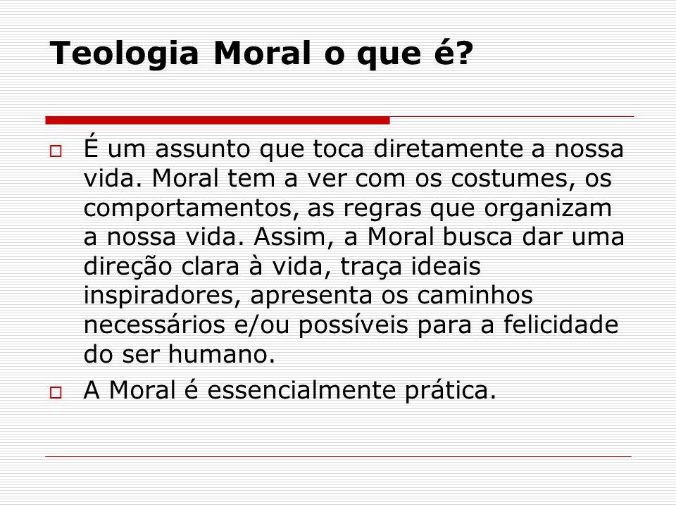 Teologia Moral o que é? É um assunto que toca diretamente a nossa vida. Moral tem a ver com os costumes, os comportamentos, as regras que organizam a