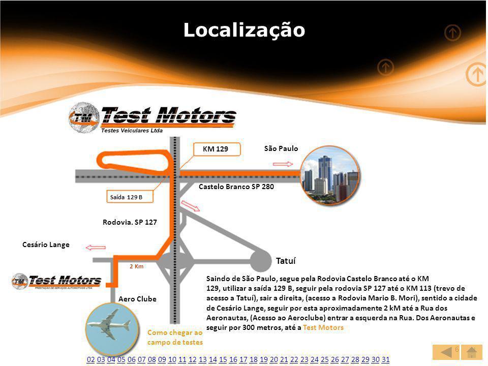 www.websete.com.br6 Localização KM 129 Saída 129 B São Paulo Castelo Branco SP 280 Rodovia.