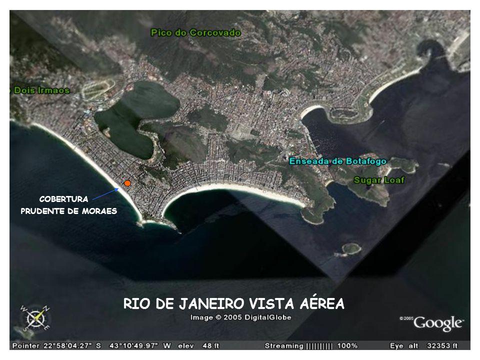 RIO DE JANEIRO VISTA AÉREA PRUDENTE DE MORAES COBERTURA