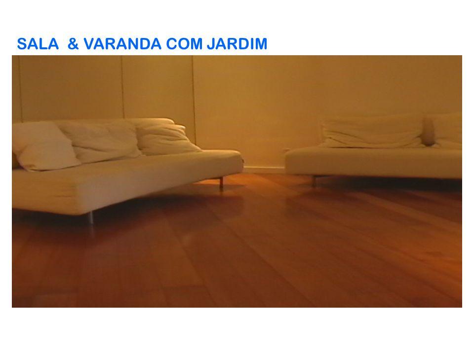 SALA & VARANDA COM JARDIM