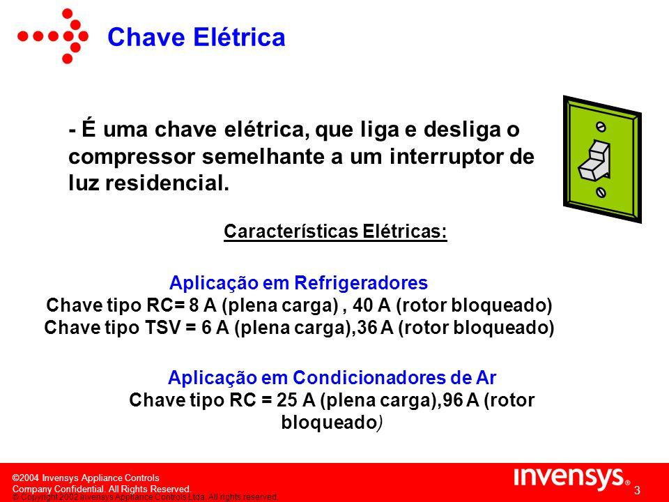 ©2004 Invensys Appliance Controls Company Confidential. All Rights Reserved. 2 O termostato é composto de duas partes básicas: CHAVE ELÉTRICA ELEMENTO