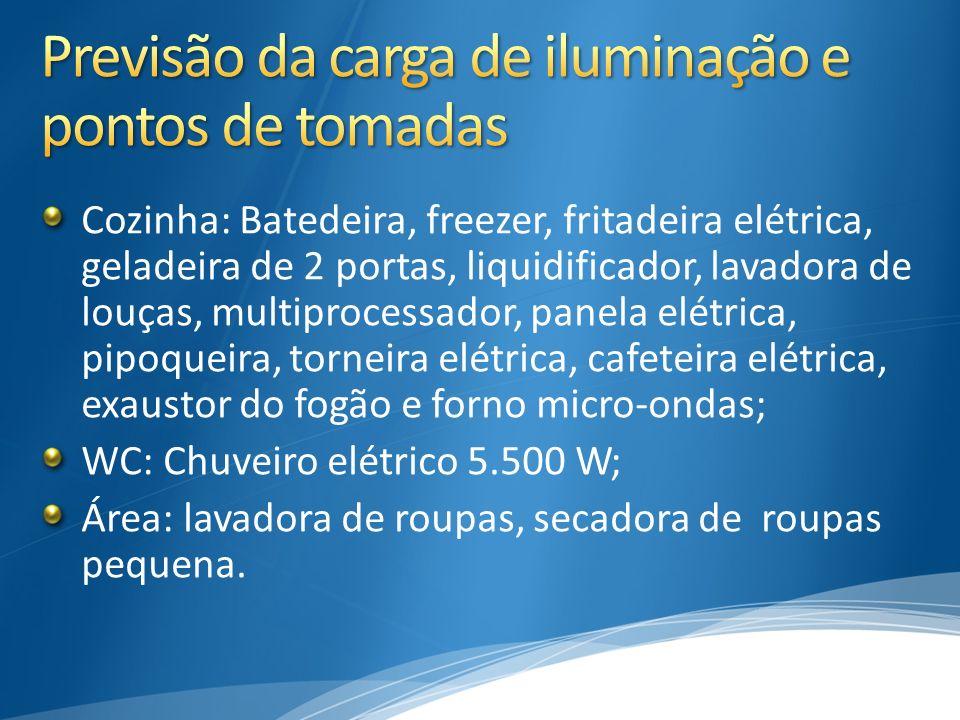 Cozinha: Batedeira, freezer, fritadeira elétrica, geladeira de 2 portas, liquidificador, lavadora de louças, multiprocessador, panela elétrica, pipoqu