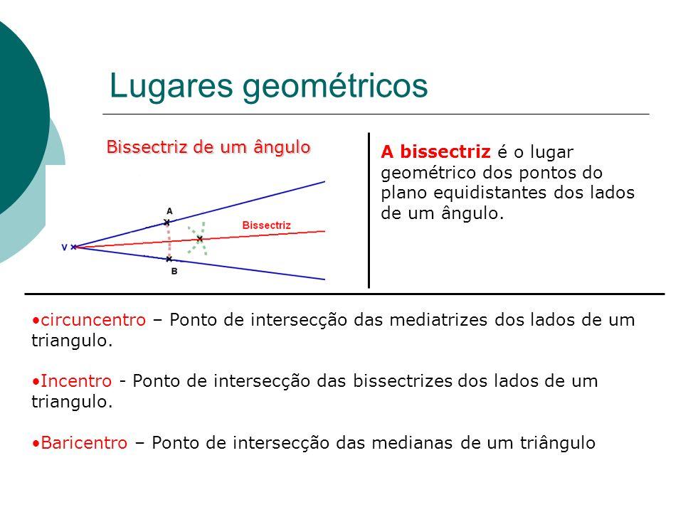 Lugares geométricos Coroa circular: É o conjunto dos pontos do plano que se encontram a uma distancia maior ou igual a r 1 ou menor ou igual a r 2 de
