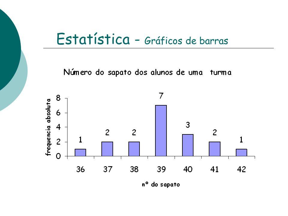 Frequência absoluta (f) Frequência relativa (f r ) F r em percentagem 6 % 11 % 39 % 16 % 11 % X 100% 1 : 18 = 0,06 2 : 18 = 0,11 7 : 18 = 0,39 3 : 18