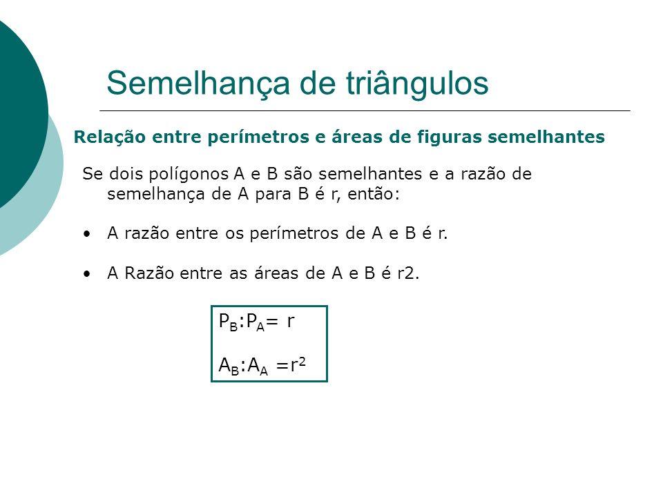 Escola EB 2,3 Prof. Dr. Egas Moniz - Avanca Aplicação dos critérios de semelhança de triângulos Semelhança de triângulos 1. Determina a altura da árvo